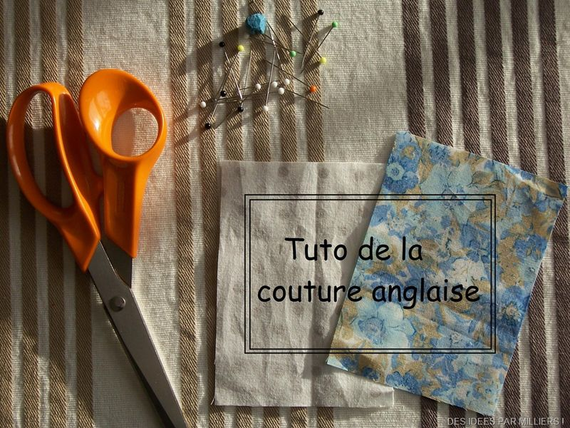 tuto couture a l'anglaise