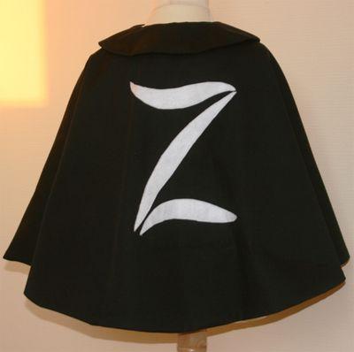 tuto couture cape zorro