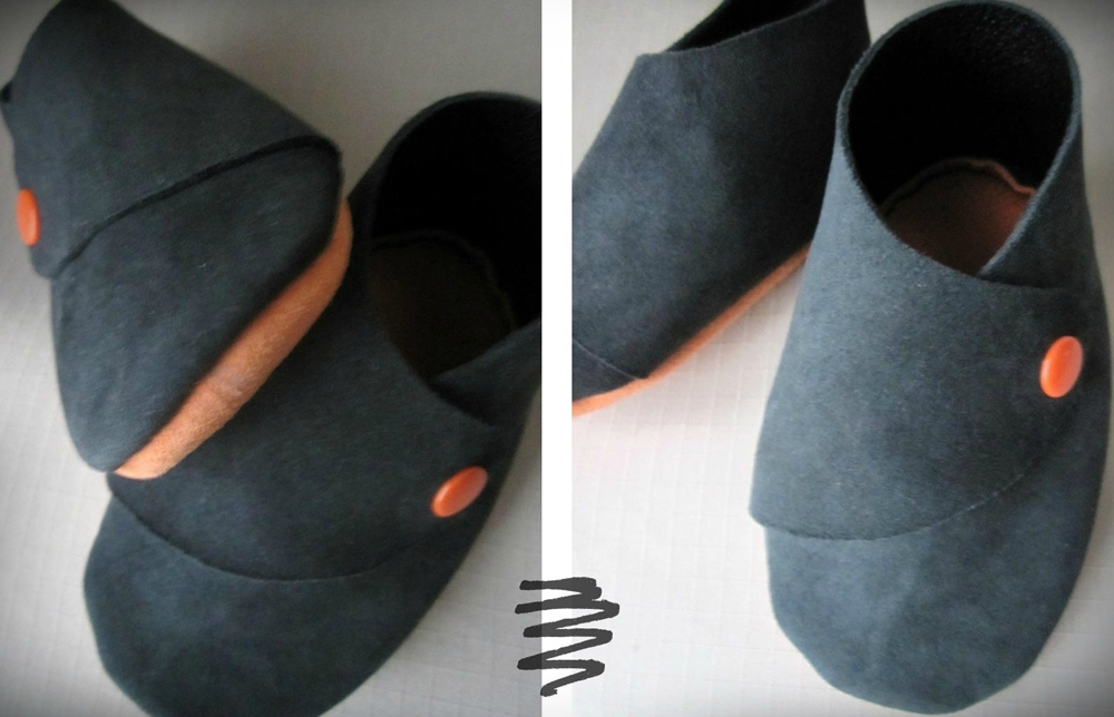 tuto couture chaussons femme