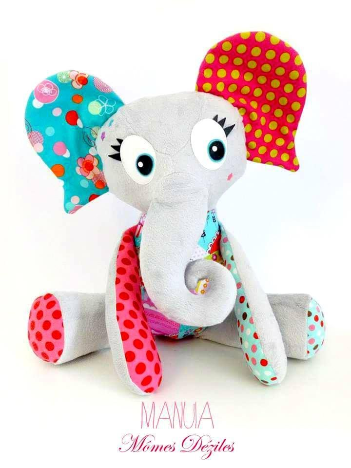 tuto couture doudou elephant