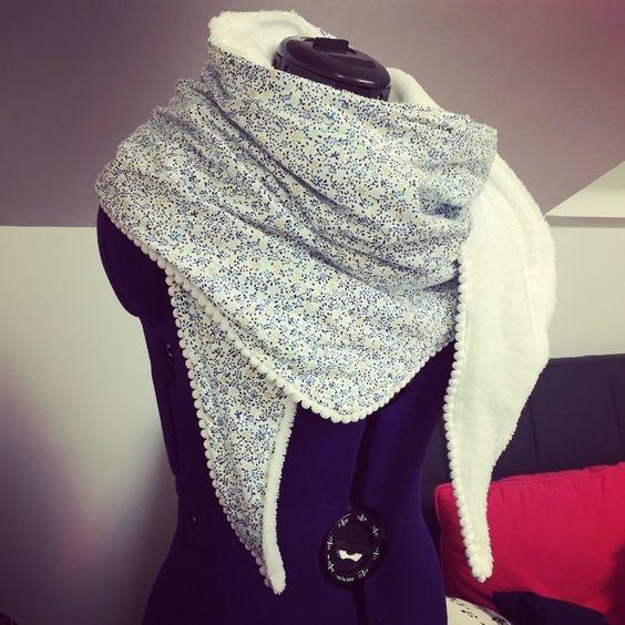 tuto couture echarpe