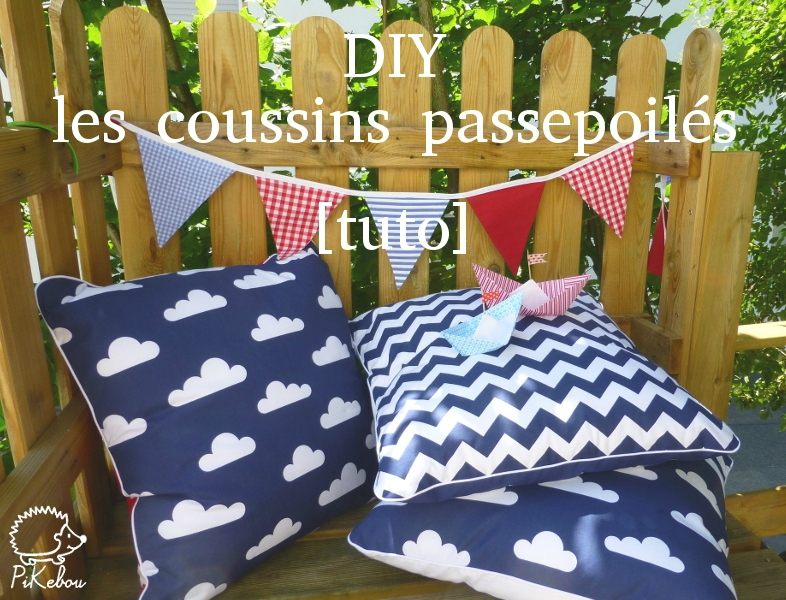 tuto couture facile coussin
