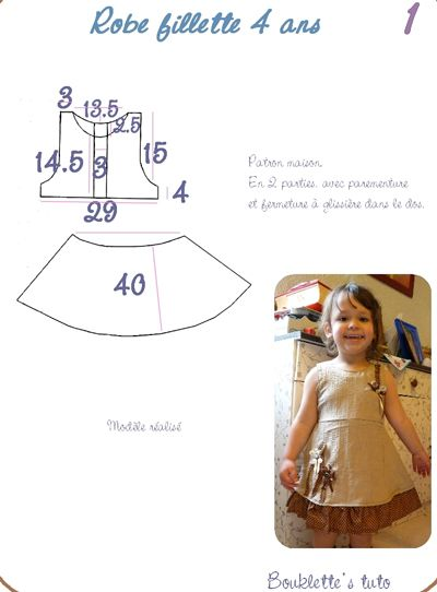 tuto couture fille 4 ans
