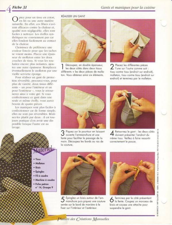 tuto couture gant de cuisine