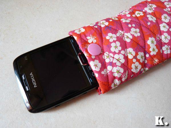 tuto couture housse telephone portable