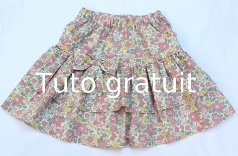 tuto couture jupe 2 ans