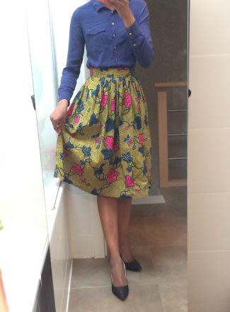 tuto couture jupe midi