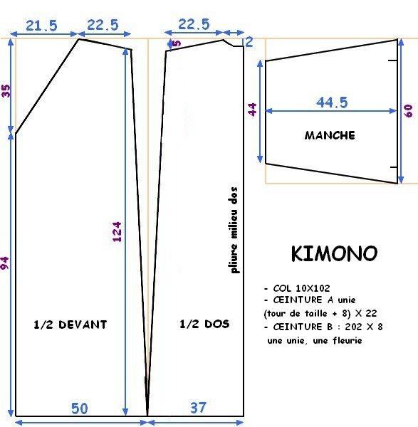 tuto couture kimono japonais