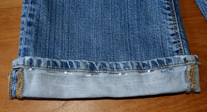 tuto couture ourlet jean