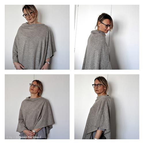 tuto couture poncho femme