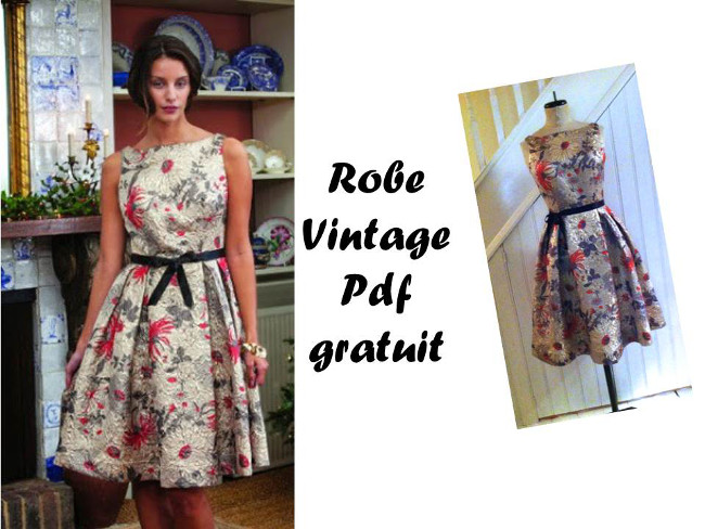 tuto couture robe annee 50
