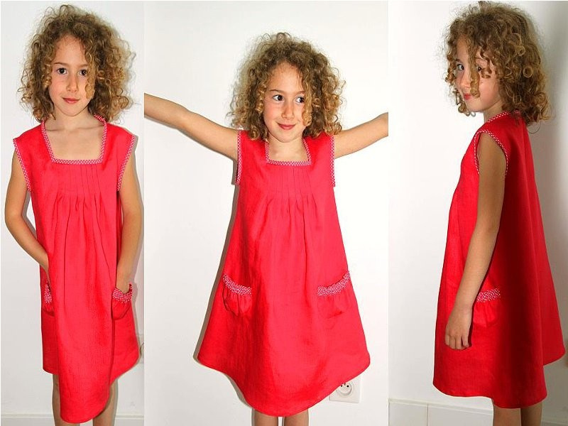 tuto couture robe fille 8 ans