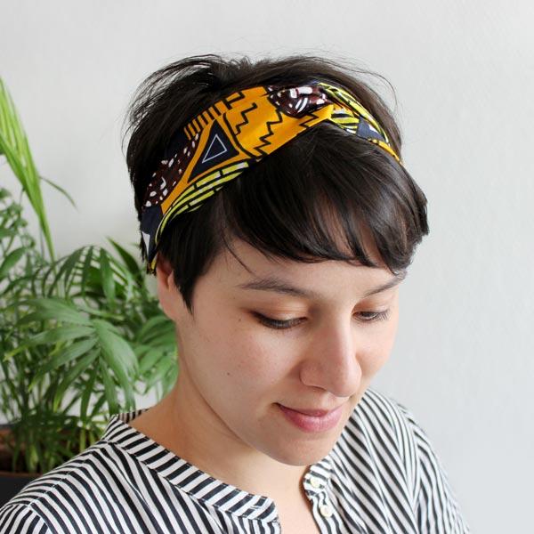 tuto couture turban wax