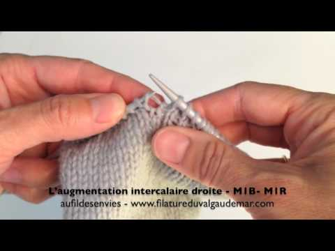 tuto tricot augmentation intercalaire