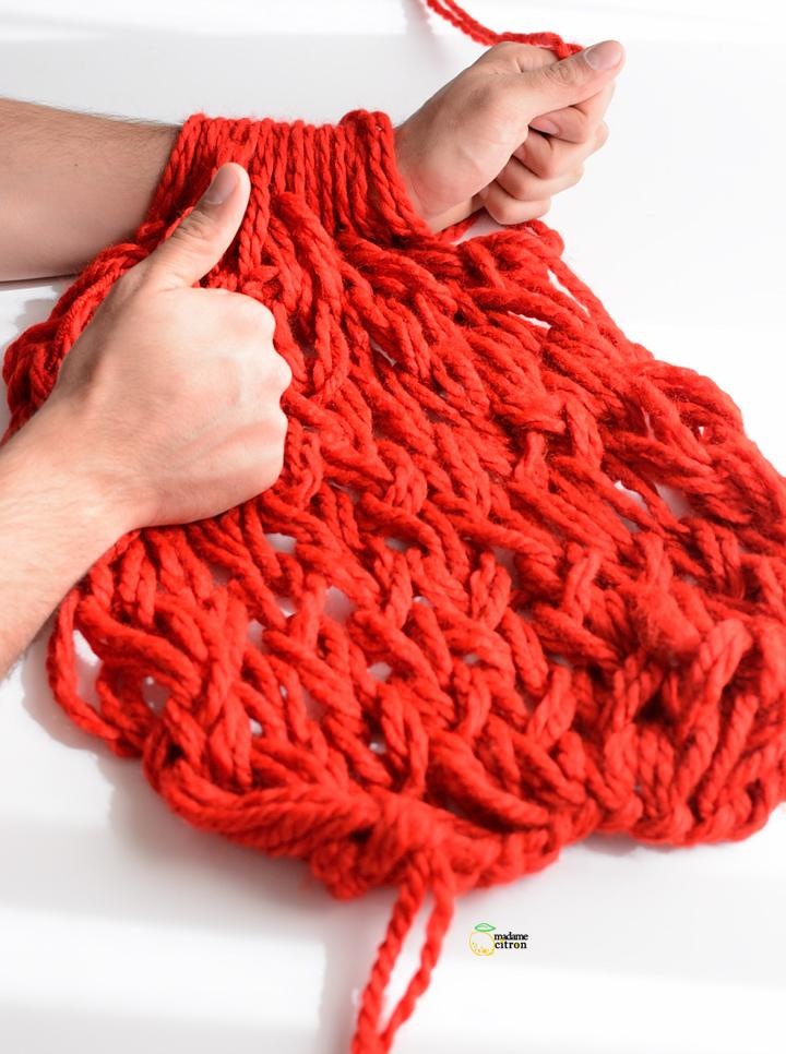 tuto tricot avec les mains