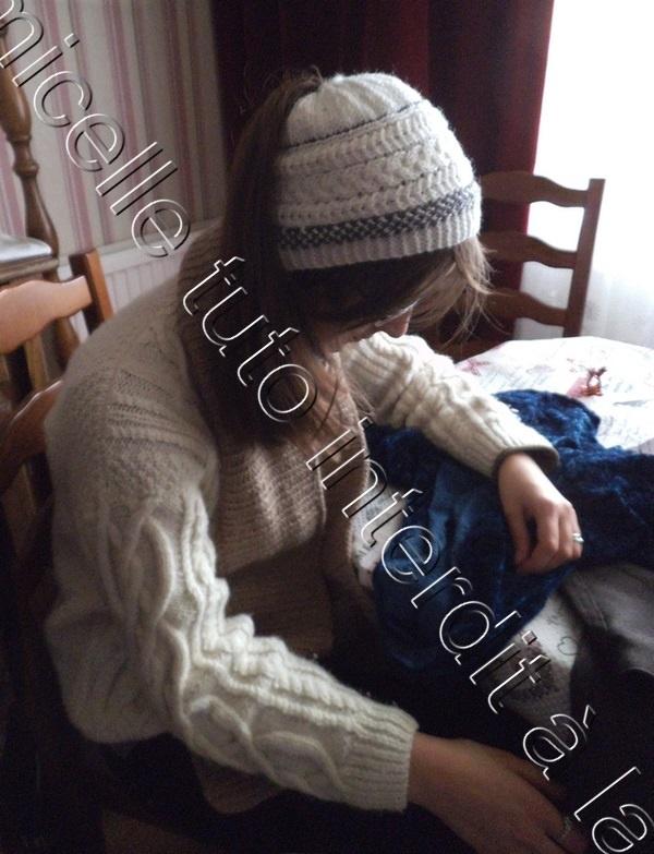 tuto tricot bonnet queue de cheval