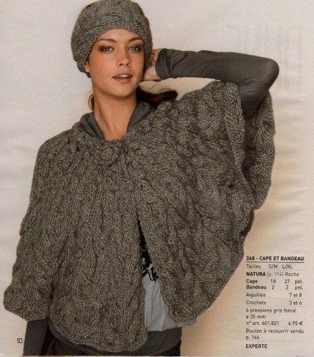 tuto tricot cape femme