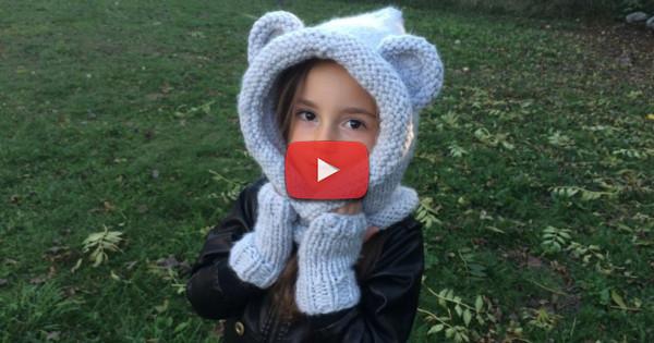 tuto tricot capuche oreilles d'ours