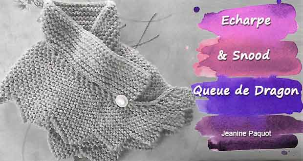 tuto tricot chale queue de dragon