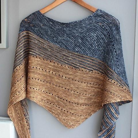 tuto tricot chale triangulaire
