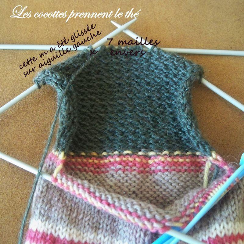 tuto tricot chaussettes 5 aiguilles