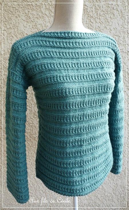 tuto tricot col bateau