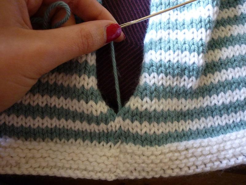 tuto tricot couture invisible
