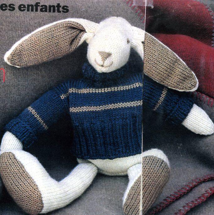 tuto tricot doudou lapin