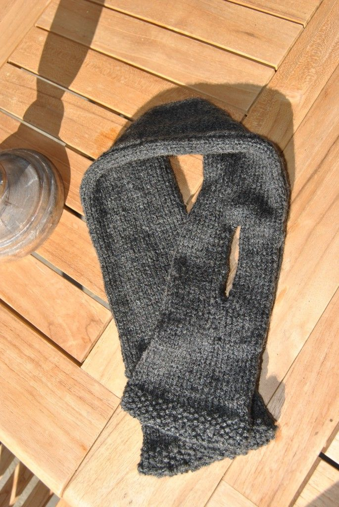 tuto tricot echarpe avec fente