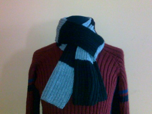 tuto tricot echarpe bicolore
