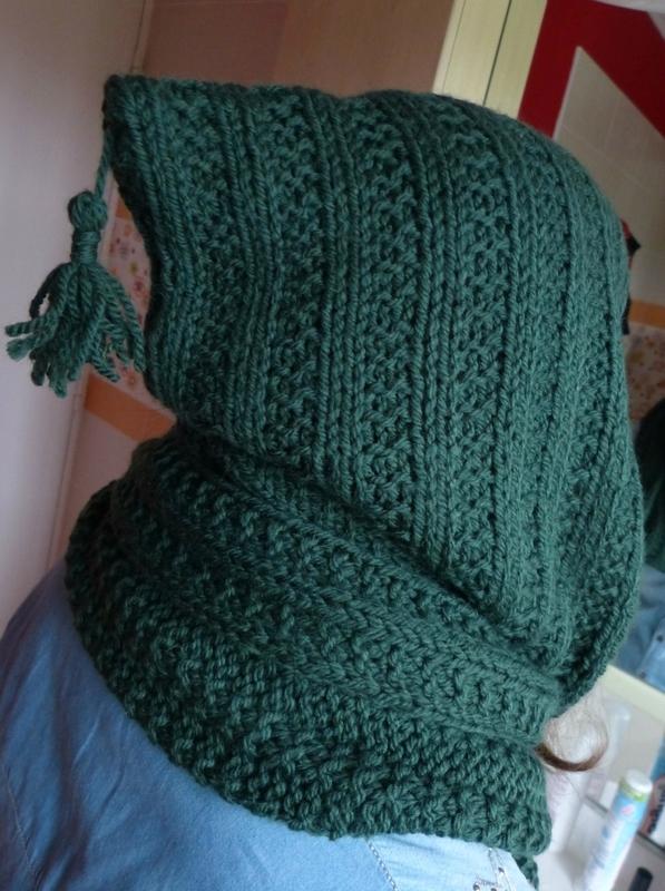 tuto tricot echarpe capuche