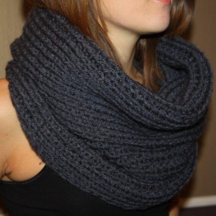 tuto tricot echarpe col