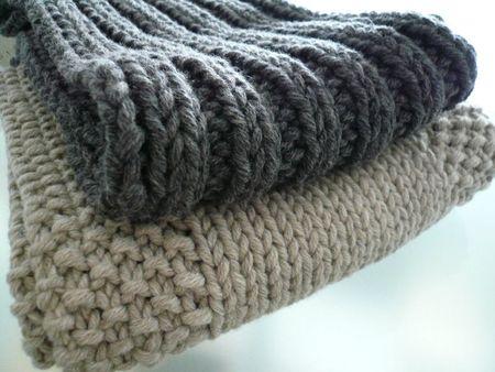 tuto tricot echarpe debutant