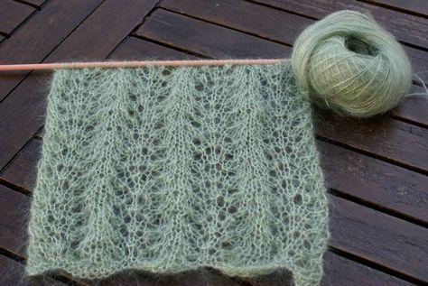 tuto tricot echarpe dentelle