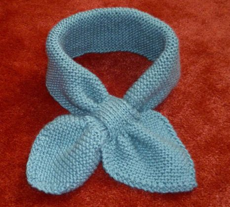 tuto tricot echarpe feuille bebe