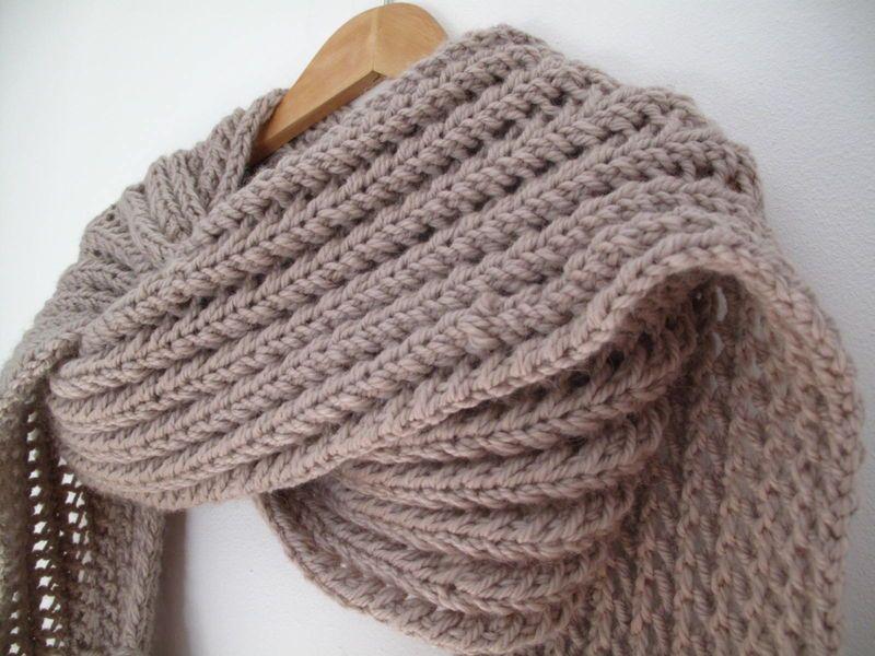 tuto tricot echarpe simple