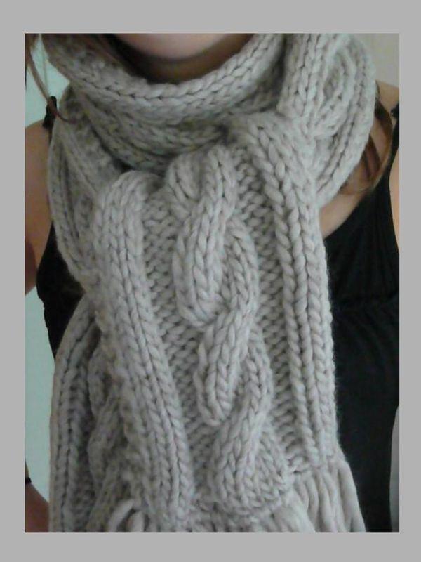 super promotions grande vente au rabais usine authentique tuto tricot echarpe torsade - Tutoriel couture et tricot