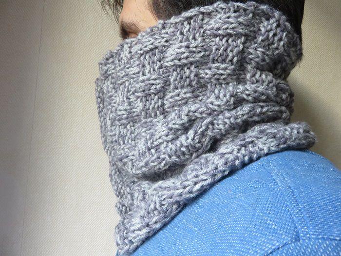tuto tricot echarpe tube
