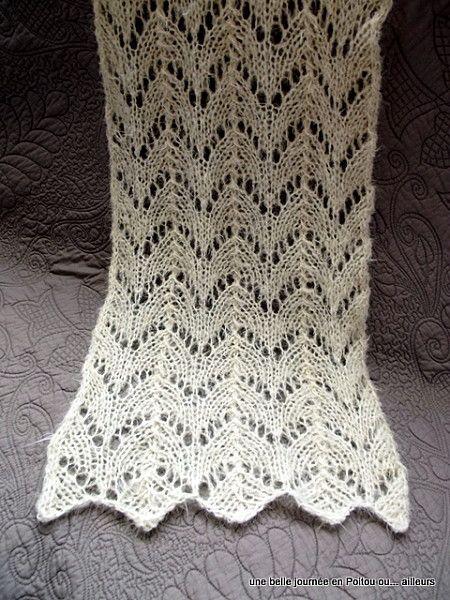 tuto tricot echarpe
