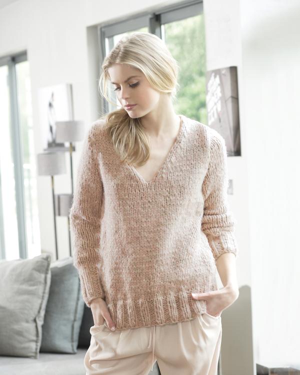 tuto tricot encolure en v