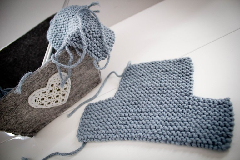 tuto tricot facile chausson bebe