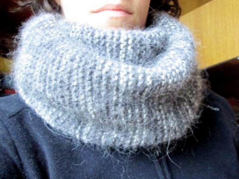 tuto tricot facile snood