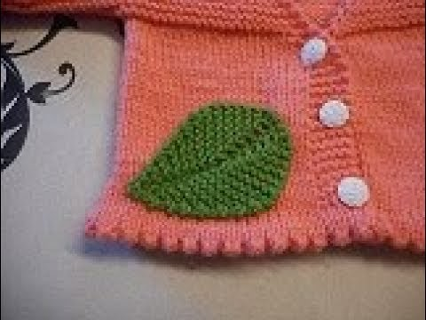 tuto tricot feuille