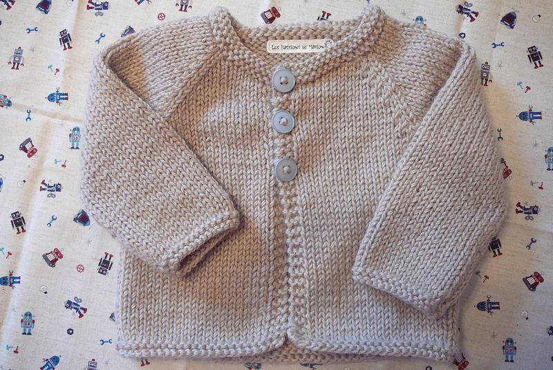 tuto tricot gilet 6 mois