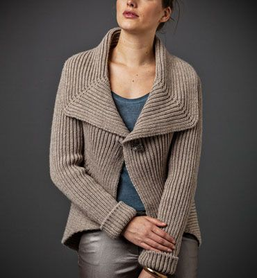 tuto tricot gilet col chale femme