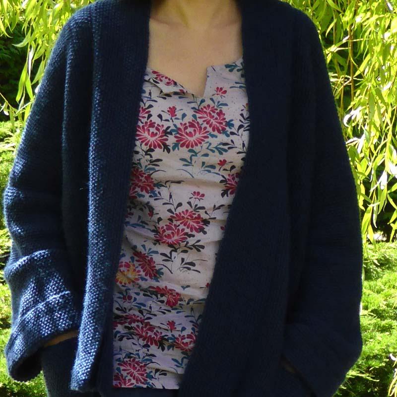 tuto tricot gilet kimono femme