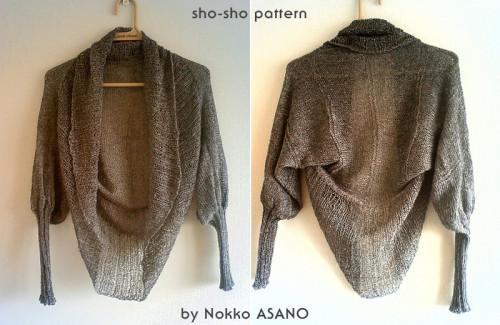 tuto tricot gilet kimono