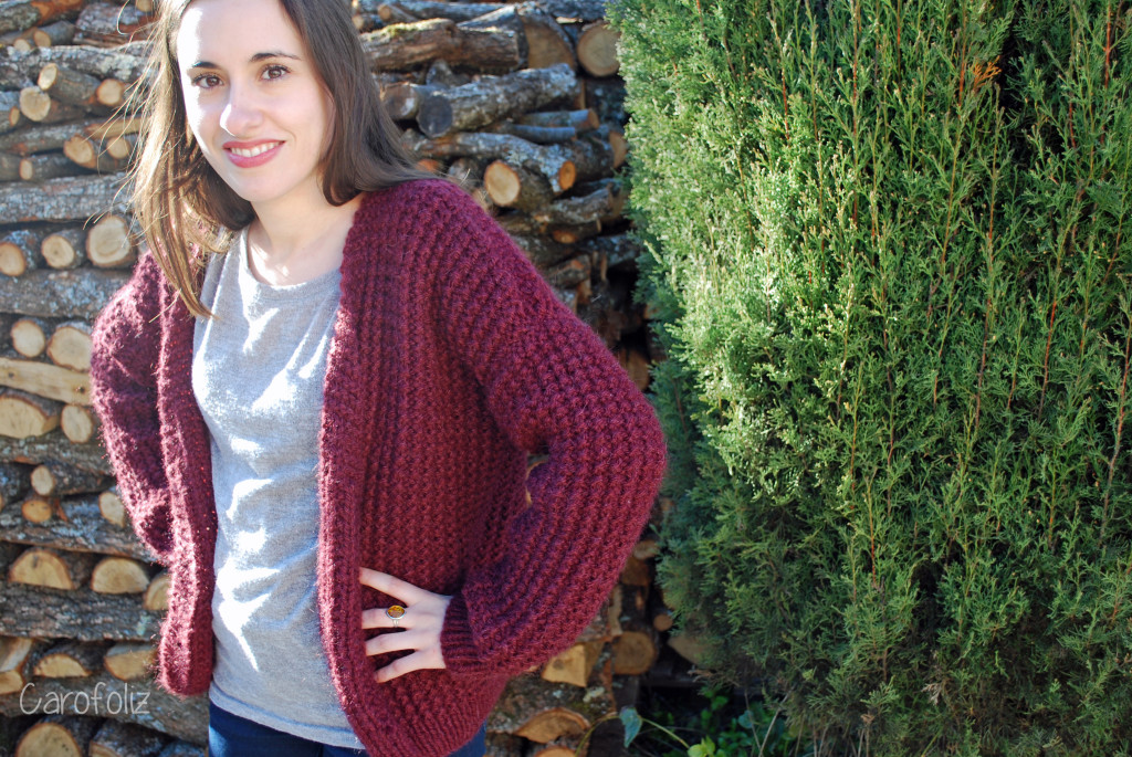 tuto tricot gilet loose
