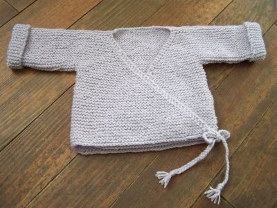 tuto tricot gilet naissance