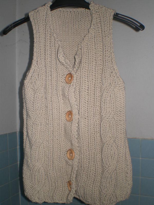 tuto tricot gilet sans manche bebe